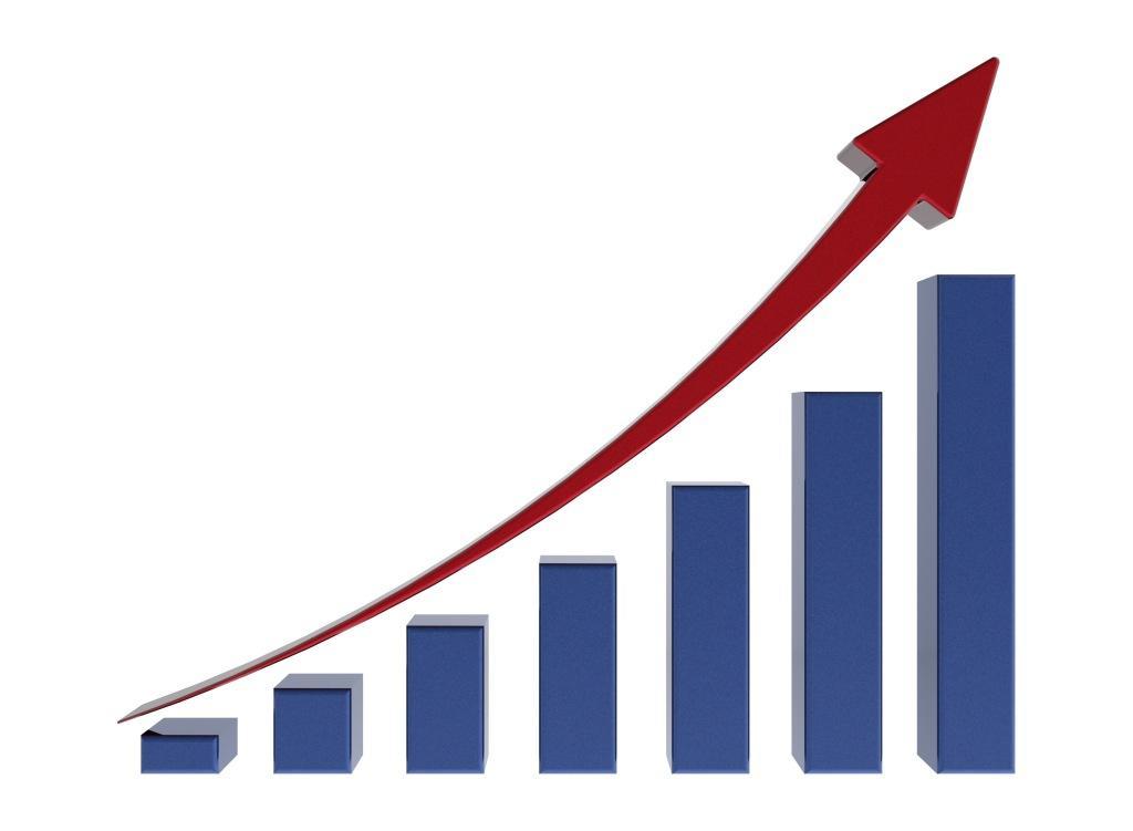 blue growth chart 2 - Ежегодный прирост рынка пластиковой упаковки составит 4,8%